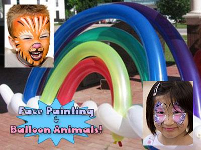 Raleigh Face Painting Balloon Animals